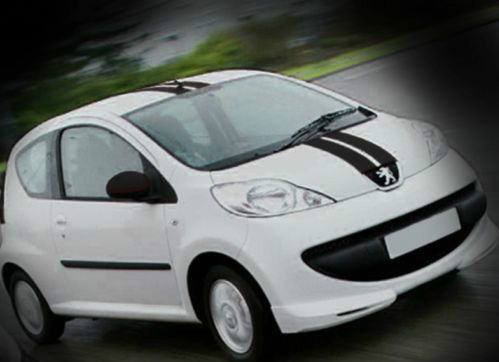 PEUGEOT 107 RACING STRIPES BLACK - TOP QUALITY STRIPES