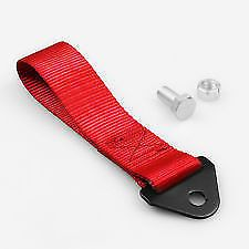 Racing Tow Straps Red for Recovery JDM Drift Track Rally Car
