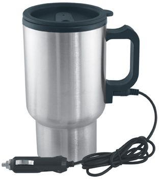 Travel Mug In-Car Thermos Electric Thermos Thermal Heated 450ml 12V 45W Sealed