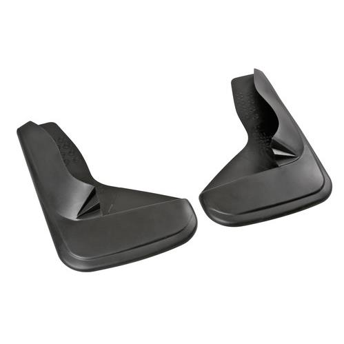 UNIVERSAL Moulded Car BLANK Rubber Black Mudflaps PAIR Contour Type 1