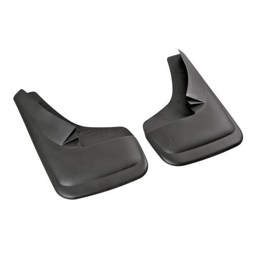 UNIVERSAL Moulded Car BLANK Rubber Black Mudflaps PAIR Contour Type 4