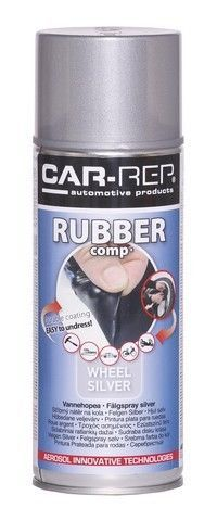 WHEEL SILVER Rubber-comp Rubber Paint Spray Film Removable Plastic dip 400ml